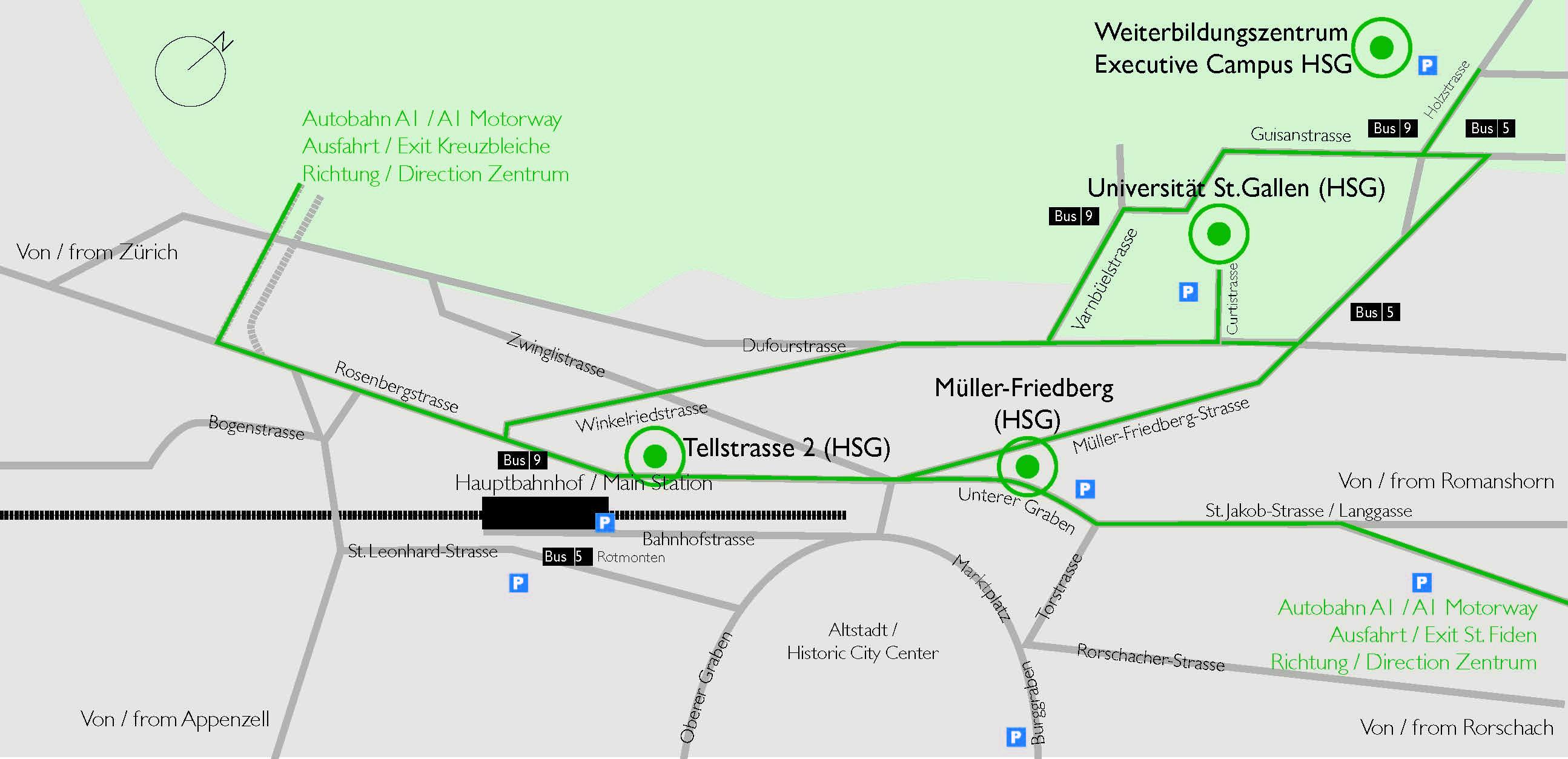 Anfahrt Tellstrasse